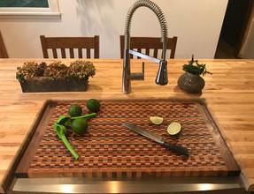 Custom over-sink board (end-grain)