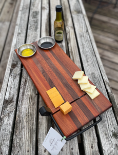 Charcuterie Board with Cheese-Slicer and Oil Bowls
