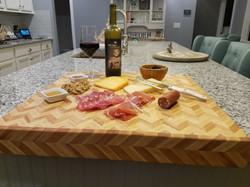 Large butcher block board