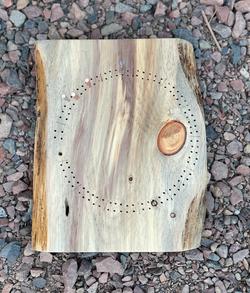 White pine cribbage board