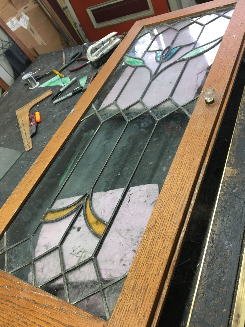 stained_glass_Cabinet_repair