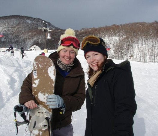 First time snowboarding at Niseko in 2008