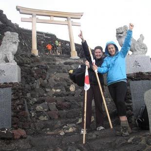 Mount Fuji Summit (Jen left, bestie on the right)