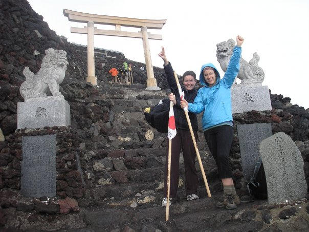 Mount Fuji Summit (Jen left, bestie on the right)
