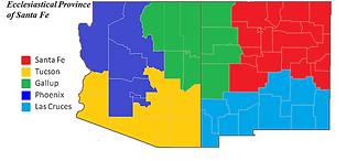 Ecclesiastical Province of Santa Fe map.