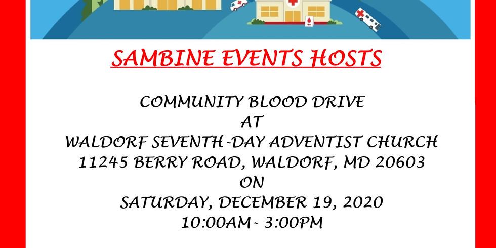 Sambine Events Hosts Community Blood Drive at Waldorf SDA Church
