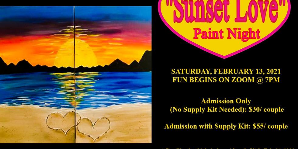 """""""Sunset Love"""" Paint Night"""