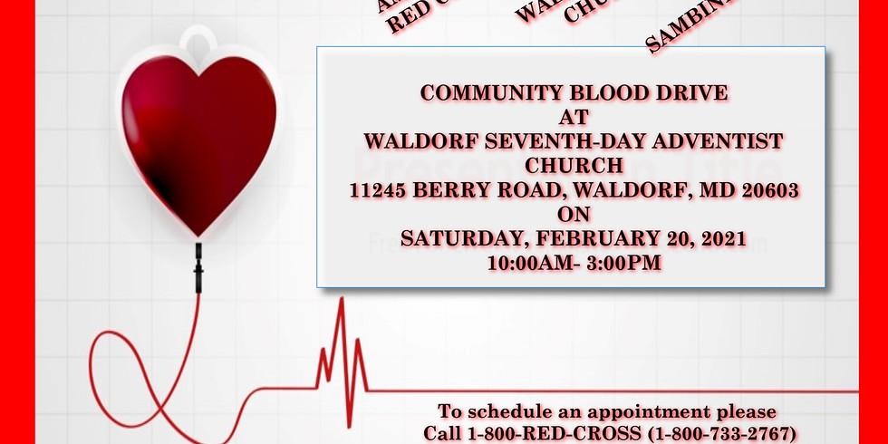 Sambine Events Hosts Community Blood Drive