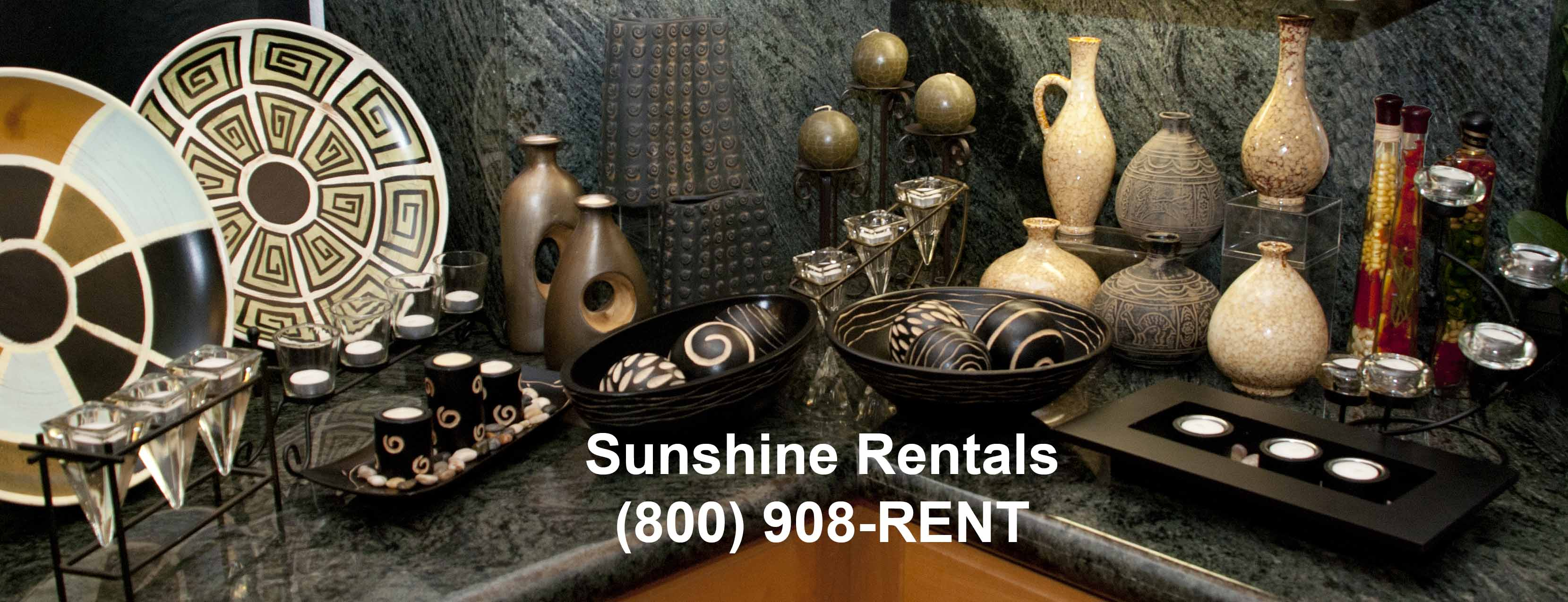 Sunshine Rentals Decorative Options