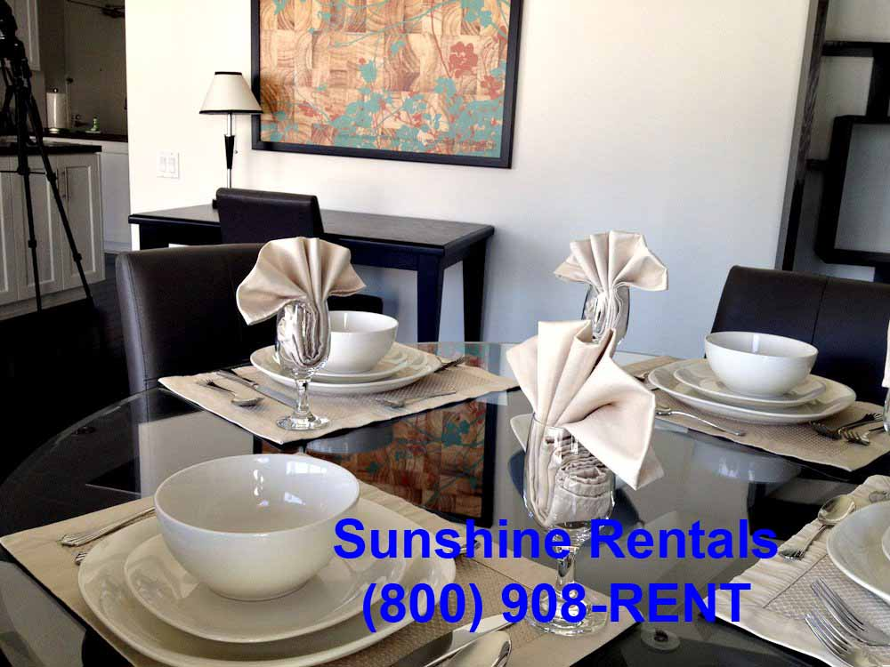 Sunshine Rentals Dining Table Quatro