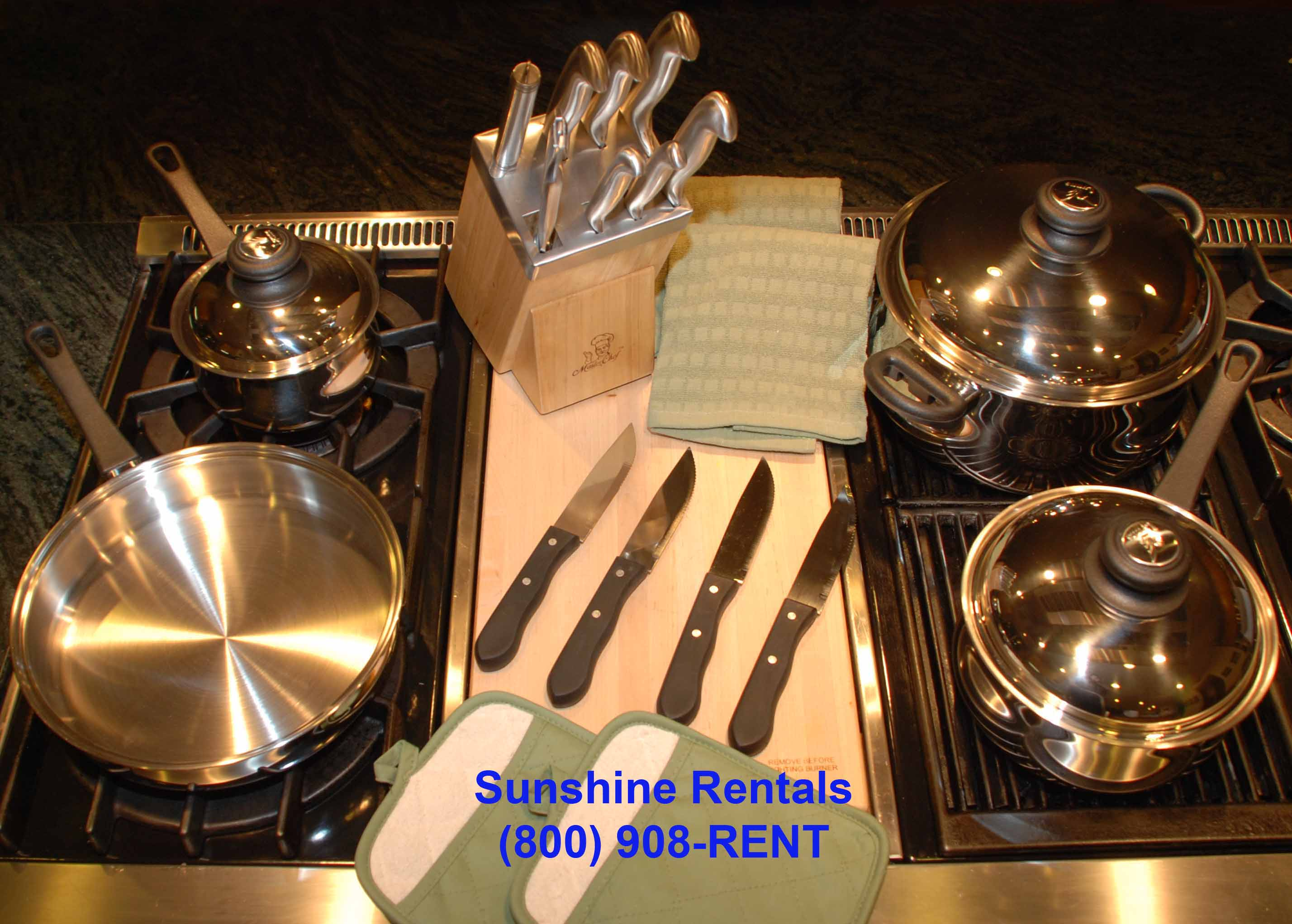Sunshine Rentals Pot Set