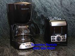Sunshine Rentals Black Appliances