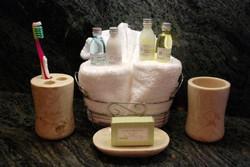 Sunshine Rentals Marble Bathroom Set