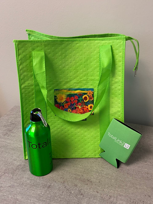 Insulated shopping tote