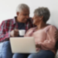 Older couple on computer