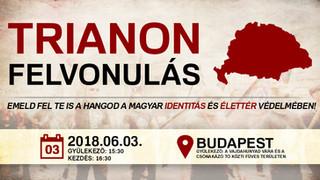 Jún. 3. Trianon Felvonulás - gyülekező: Vajdahunyad vára és a Csónakázótó közti füves terület