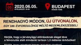 Jún. 5. 19:30 Hősök tere. 100. évforduló: nem marad el a Trianon Felvonulás!