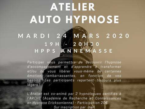Atelier Auto-Hypnose mars 2020