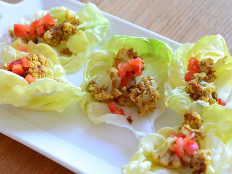 Spicy-Peanut Cauliflower Lettuce Wraps
