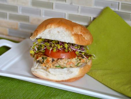Kale and Sweet Potato Turkey Burgers