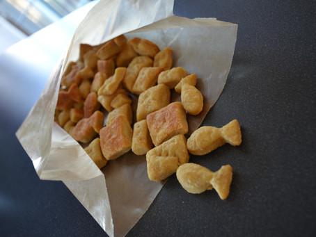 Homemade Cheesy Crackers