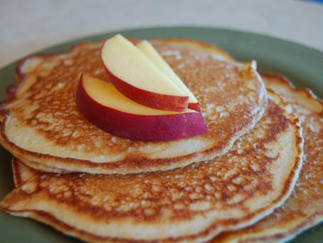 Vanilla Bean Peach Pancakes