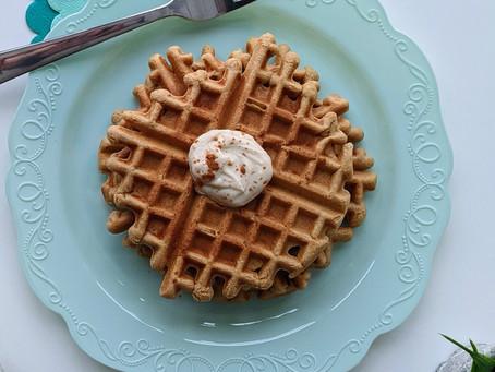 Cinnamon Roll Waffles (df/gf)