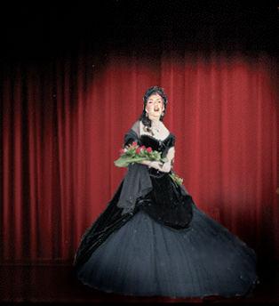 Lori Joachim Fredrics In Carmen costume at curtain call
