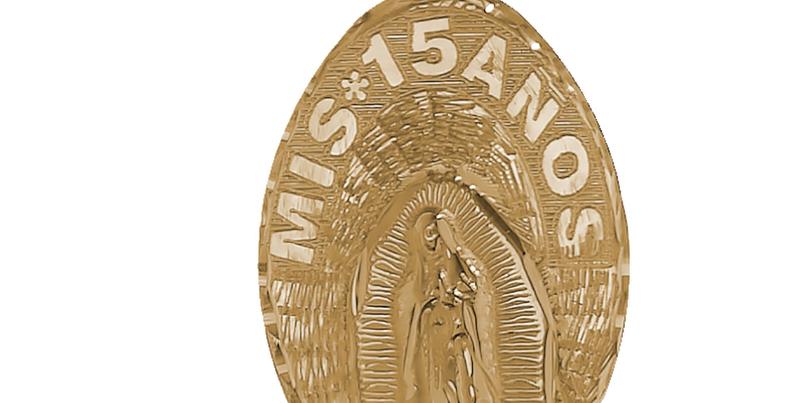 14K Our Lady 15 Pendant