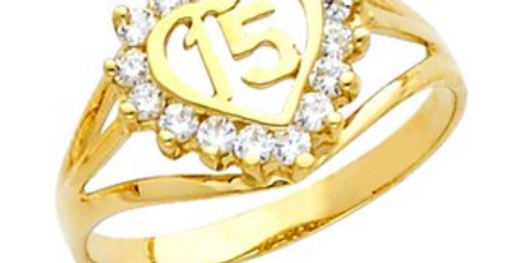14 K Embrace Quince Ring