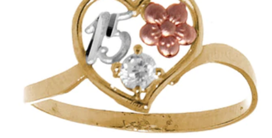 14 K Rose Quince Ring