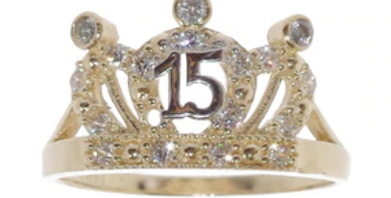 14 K 3 Point Quince Ring