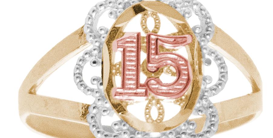 14 K Scroll Ring