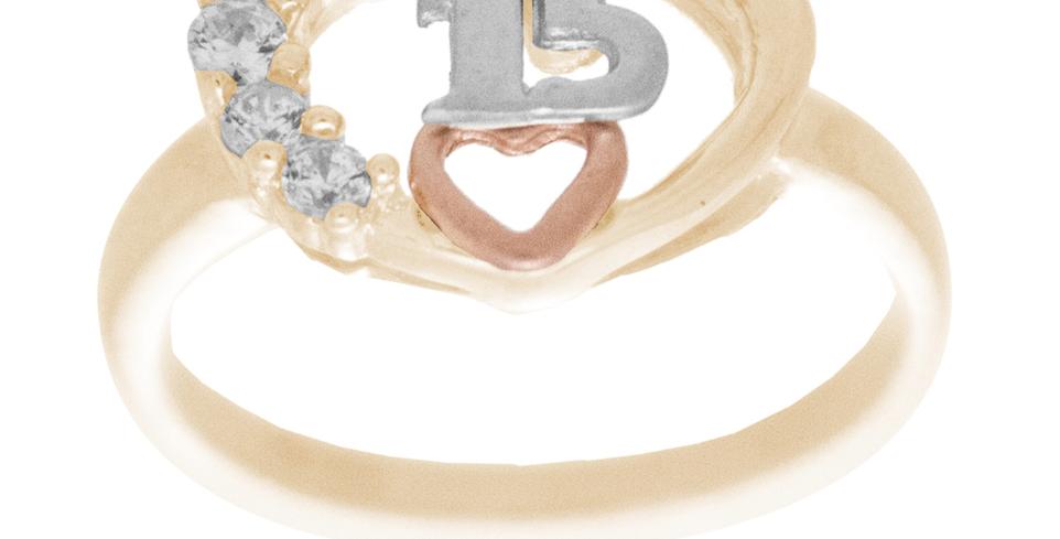14 K Heart Ring