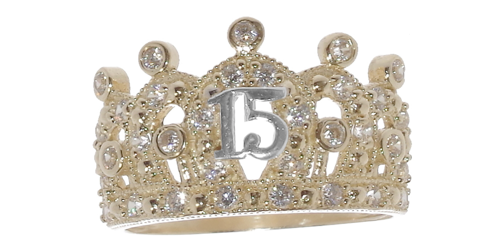14 K Princesa Quince Ring