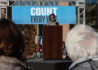 """Patrice Tisdale  Speaks At """"Protect The Results"""" Rally"""