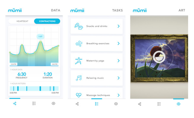 Mumii App Screens