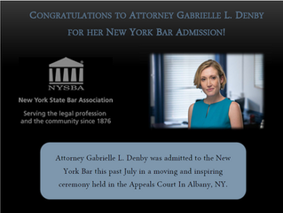 Congrats to Attorney Denby for her New York Bar Admission!