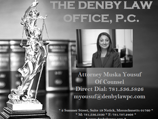 Congratulations to Attorney Muska Yousuf for receiving professional recognition from the Boston Busi