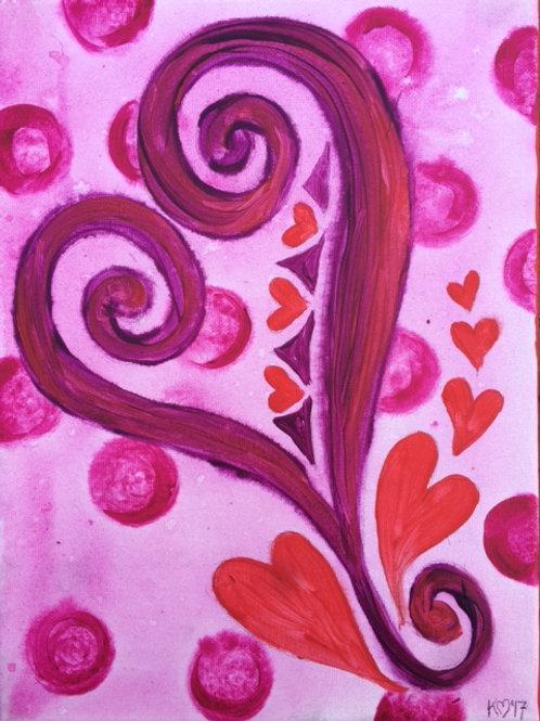Happy Heart Canvas To Go Kit