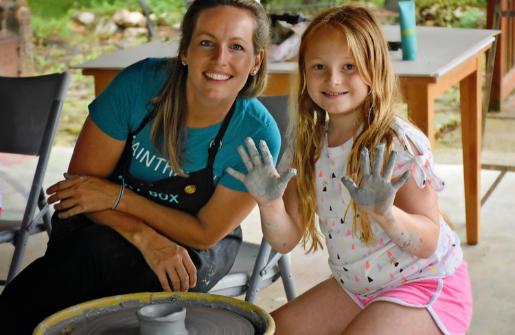 Pottery Pavilion - Kristin with Student