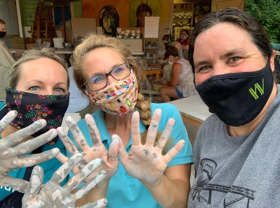 Pottery Pavilion - Kristin, Dena and Amy