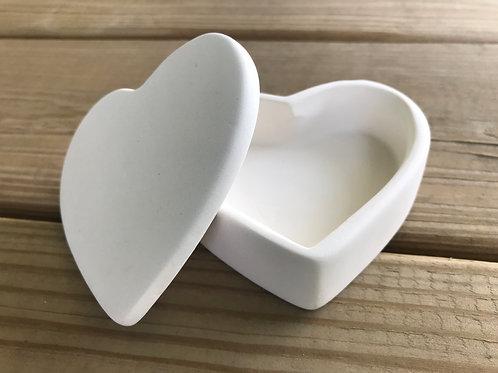 Small Heart Box Pottery To Go Kit