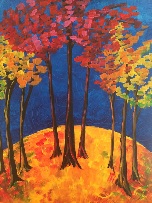 Fall Forest Canvas To Go Kit