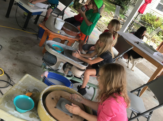 Pottery Pavilion -Summer Camp Group at W