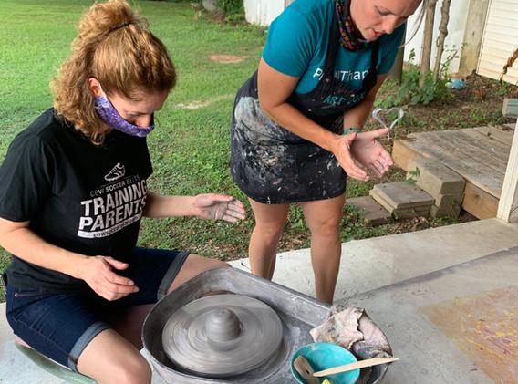 Pottery Pavilion -Kristin Teaching Adult