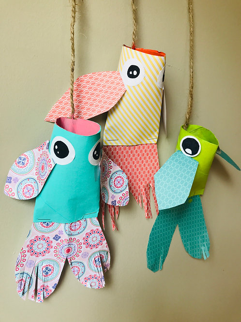 Paper Roll Fish Craft Kit