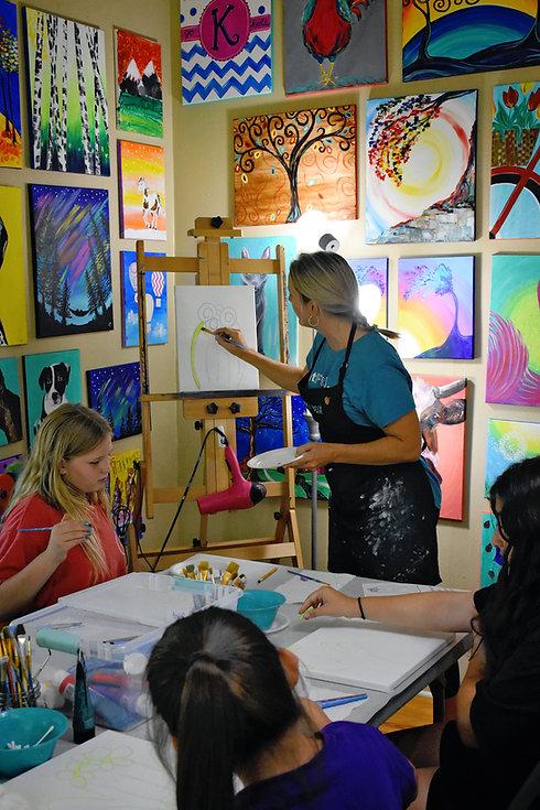 Kristin Teaching Canvas Paintng.jpg