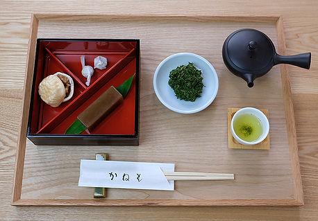 くるみ最中+栗羊羹+玉露.jpg
