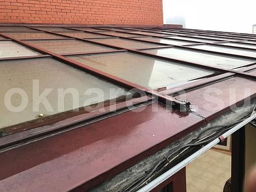 Устранение протечек стеклянной крышы